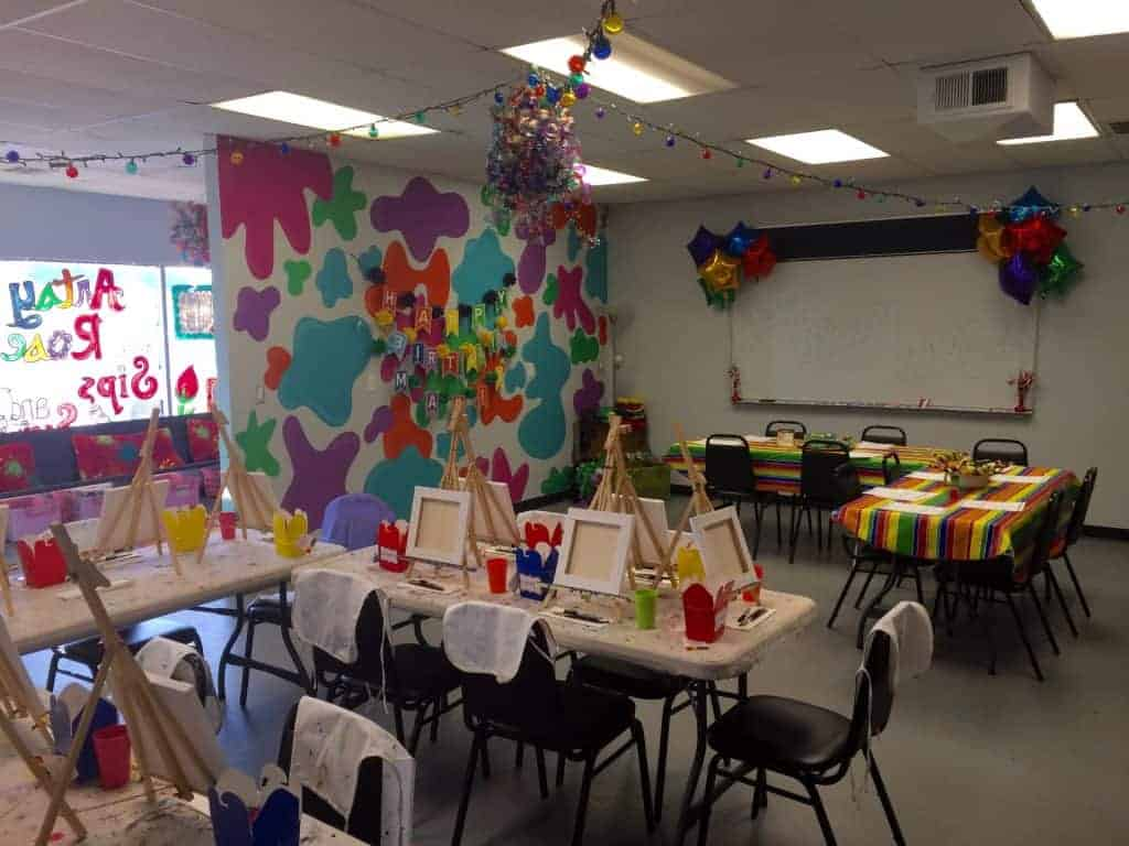 Kids Birthday Party Okc Artsy Rose Academy