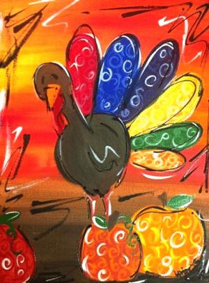 Thanksgiving Turkey Canvas Painting Ideas