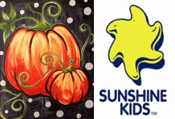 pumpkins polka dots sunshine kids fundraiser