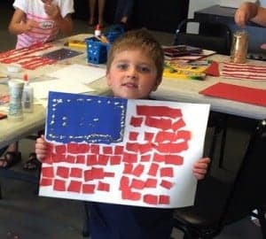 Kids Painting class to celebrate our nations birthday