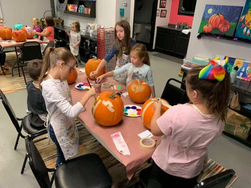 paint a pumpkin at Artsy Rose ages 2 and up