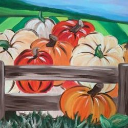 pumpkin patch social painting class for ages 9 to adults