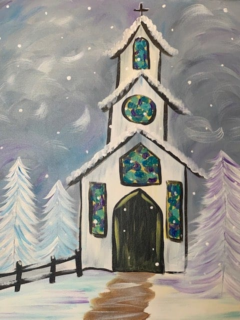 Chapel in the Woods Social Painting Class