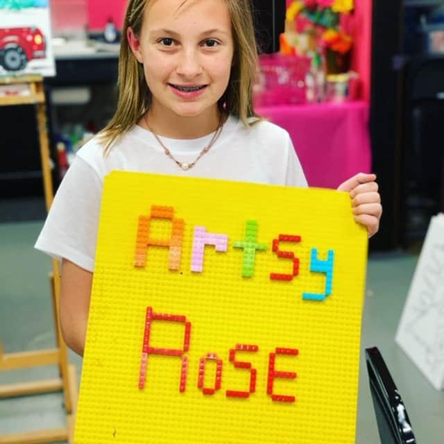 Artsy Rose Legos
