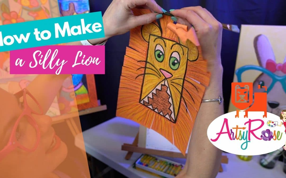 How to Draw a Lion using Oil Pastels with Artsy Rose