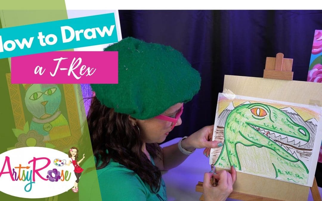 """I Draw, You Draw"" T-Rex Tutorial with Artsy Rose"