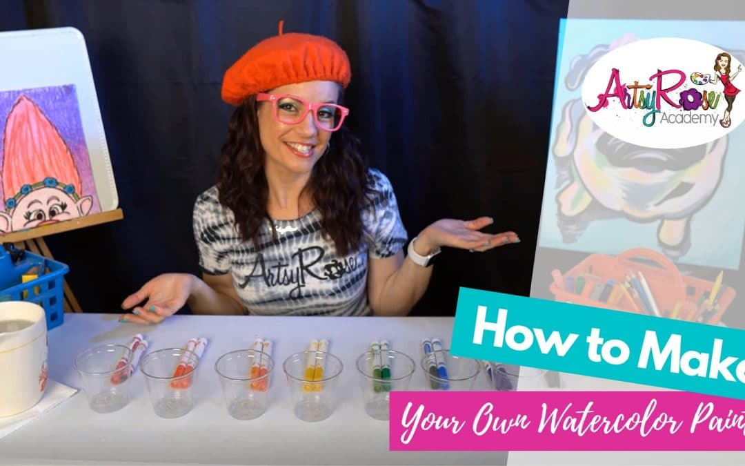 How to Make Homemade Watercolors with Artsy Rose