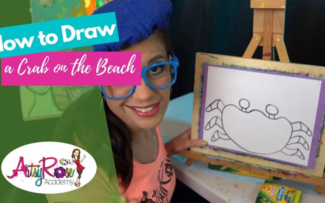 How to Draw a Crab on the Beach with Artsy Rose